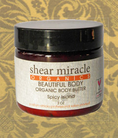 Shear Miracles: Spicy Island Beautiful Body Organic Body Butter
