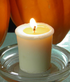 Soy Aromatherapy Candle in Pumpkin Chai from WoodSprite Organic Body